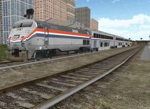 Capturas de pantalla del juego Train sim para iPhone, iPad o iPod.