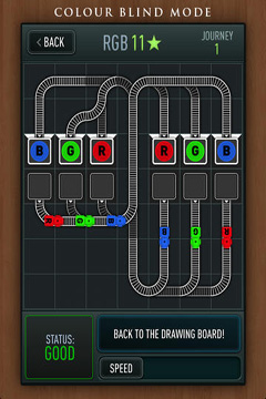 Capturas de pantalla del juego Trainyard para iPhone, iPad o iPod.