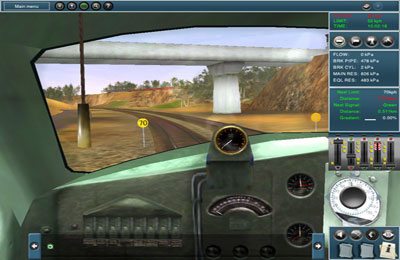 iPhone、iPad 或 iPod 版Trainz Simulator游戏截图。