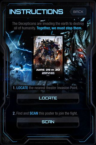 Kostenloser Download von Transformers 3: Defend the earth für iPhone, iPad und iPod.