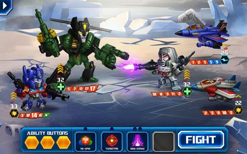 Screenshots of the Transformers: Battle tactics game for iPhone, iPad or iPod.