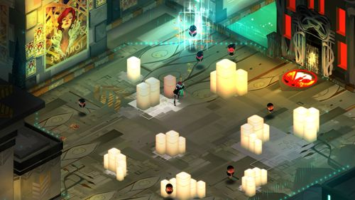 Capturas de pantalla del juego Transistor para iPhone, iPad o iPod.