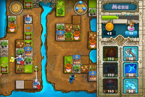Screenshots of the Treasure defense game for iPhone, iPad or iPod.