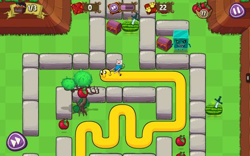 Download Treasure fetch: Adventure time iPhone free game.
