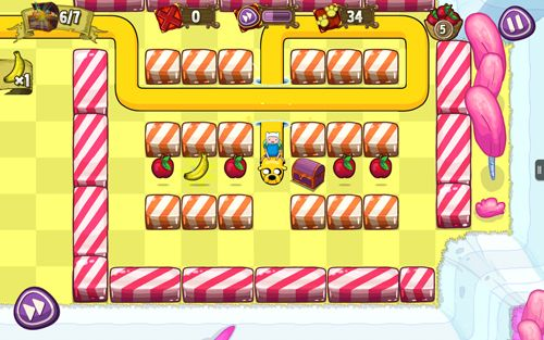 Screenshots vom Spiel Treasure fetch: Adventure time für iPhone, iPad oder iPod.