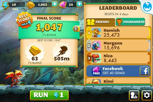 Capturas de pantalla del juego Treasure run! para iPhone, iPad o iPod.