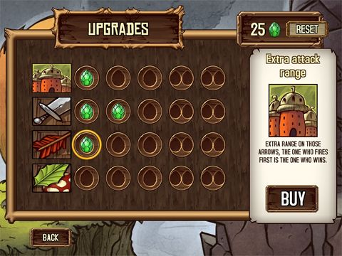 Écrans du jeu Tree wars pour iPhone, iPad ou iPod.