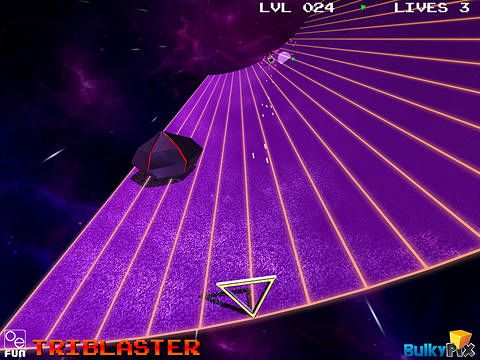 Screenshots of the Tri blaster game for iPhone, iPad or iPod.