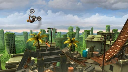 Screenshots of the Trials frontier game for iPhone, iPad or iPod.