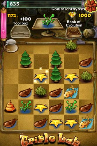 Screenshots of the Triple lab G game for iPhone, iPad or iPod.