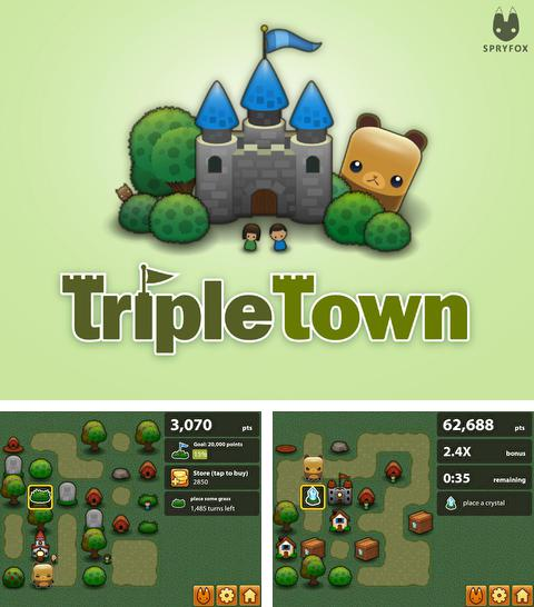 In addition to the game Angry birds action! for iPhone, iPad or iPod, you can also download Triple Town for free.