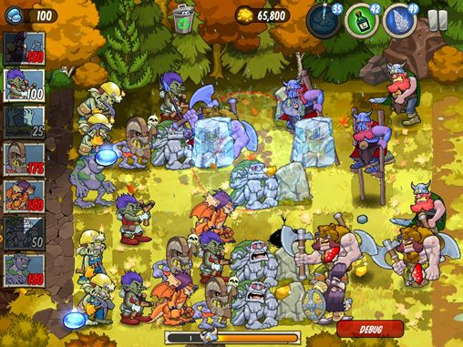 Capturas de pantalla del juego Trolls vs. vikings para iPhone, iPad o iPod.
