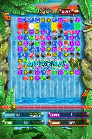 Capturas de pantalla del juego Tropical treasures: Pocket edition para iPhone, iPad o iPod.
