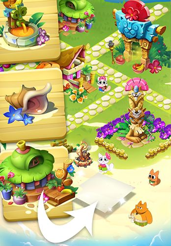 Screenshots of the Tropicats: Puzzle paradise game for iPhone, iPad or iPod.