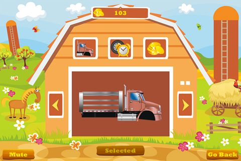 Screenshots of the Truck go game for iPhone, iPad or iPod.