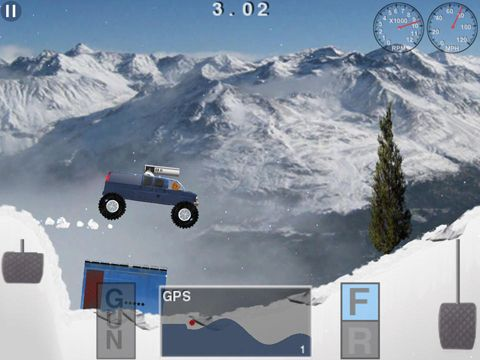 Free Truck racer: Attack of the Yeti download for iPhone, iPad and iPod.