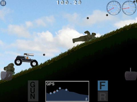 Screenshots of the Truck racer: Attack of the Yeti game for iPhone, iPad or iPod.