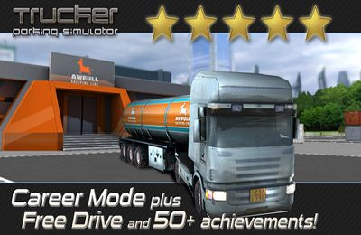 Screenshots vom Spiel Trucker: Parking Simulator - Realistic 3D Monster Truck and Lorry Driving Test Free Racing für iPhone, iPad oder iPod.