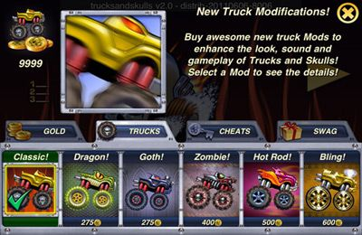 Free Trucks and Skulls NITRO download for iPhone, iPad and iPod.