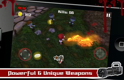 Screenshots of the Tsolias Vs Zombies 3D game for iPhone, iPad or iPod.