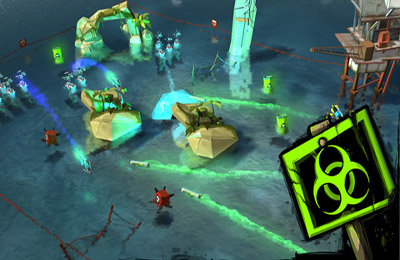 Screenshots of the TurtleStrike game for iPhone, iPad or iPod.