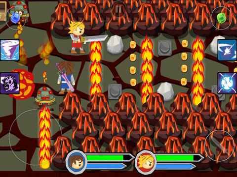 Screenshots of the Twin Swords game for iPhone, iPad or iPod.