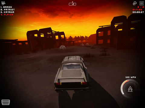 Screenshots vom Spiel Uber racer 3D monster truck: Nightmare für iPhone, iPad oder iPod.