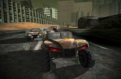 Screenshots of the Uber Racer 3D – Sandstorm game for iPhone, iPad or iPod.