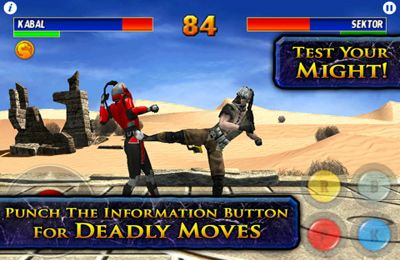 iPhone、iPad 或 iPod 版Ultimate Mortal Kombat 3游戏截图。