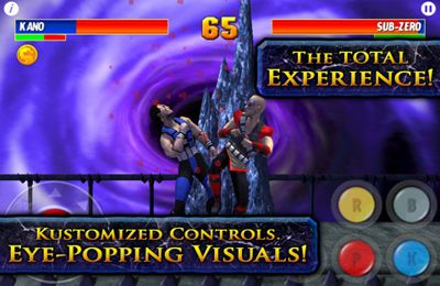 Écrans du jeu Ultimate Mortal Kombat 3 pour iPhone, iPad ou iPod.