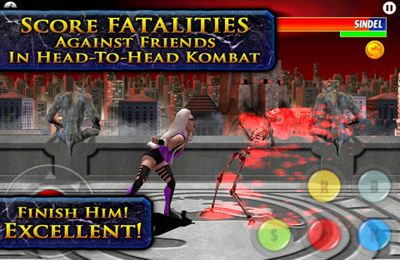 Capturas de pantalla del juego Ultimate Mortal Kombat 3 para iPhone, iPad o iPod.