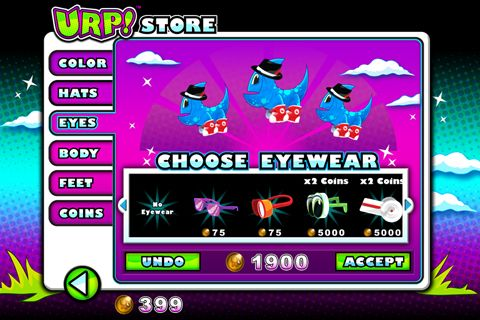 Screenshots of the Urp! game for iPhone, iPad or iPod.