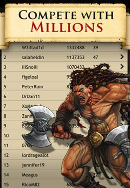 Screenshots of the Valor game for iPhone, iPad or iPod.