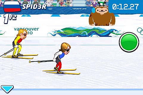 iPhone、iPad 或 iPod 版Vancouver 2010: Official game of the olympic winter games游戏截图。
