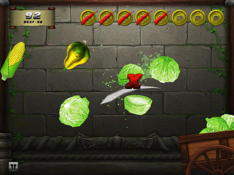 Download Veggie samurai iPhone free game.
