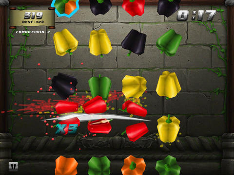 Free Veggie samurai download for iPhone, iPad and iPod.