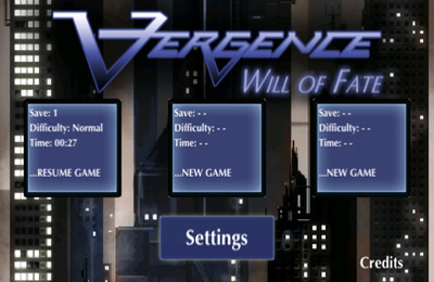 Screenshots of the Vergence game for iPhone, iPad or iPod.