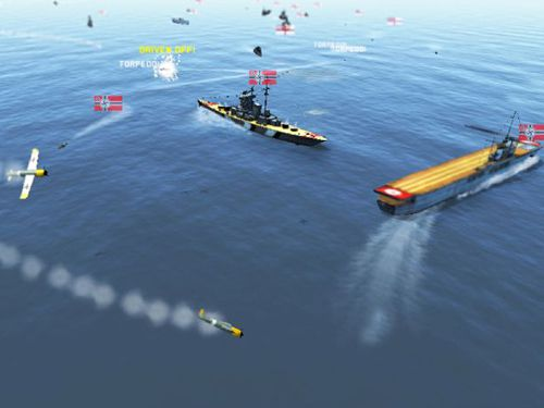 Screenshots of the Victory at sea game for iPhone, iPad or iPod.