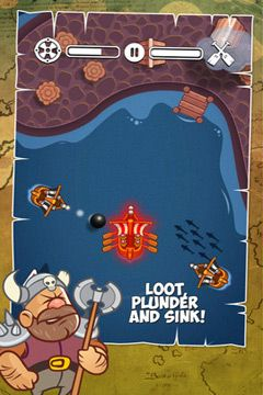 iPhone、iPad または iPod 用Viking Tales: Mystery Of Black Rockゲームのスクリーンショット。