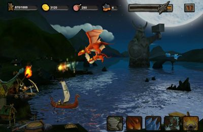 Screenshots do jogo Vikings vs. Dragons para iPhone, iPad ou iPod.