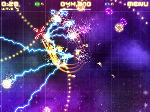 Screenshots of the Violet storm game for iPhone, iPad or iPod.