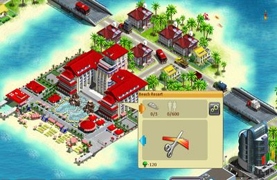 Écrans du jeu Virtual City 2: Paradise Resort pour iPhone, iPad ou iPod.