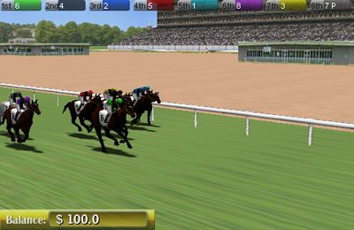 Descarga gratuita de Virtual Horse Racing 3D para iPhone, iPad y iPod.