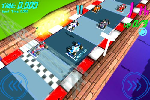 Download Virtual mini race iPhone free game.