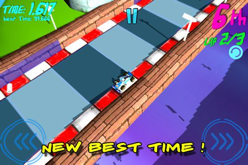 Screenshots of the Virtual mini race game for iPhone, iPad or iPod.