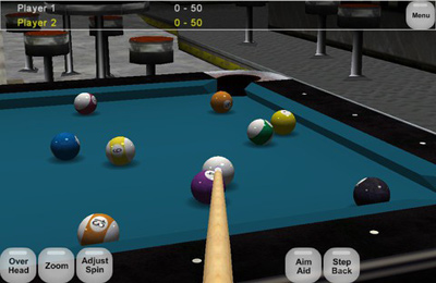 Capturas de pantalla del juego Virtual Pool Online para iPhone, iPad o iPod.