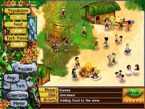 Screenshots vom Spiel Virtual villagers: The lost children für iPhone, iPad oder iPod.