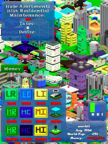 Capturas de pantalla del juego Voxel city para iPhone, iPad o iPod.