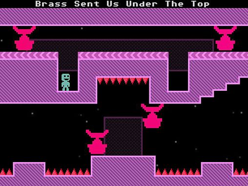 Screenshots of the VVVVVV game for iPhone, iPad or iPod.