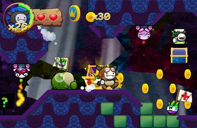 Screenshots of the Wacoon Jump! – Super Land Platformer game for iPhone, iPad or iPod.